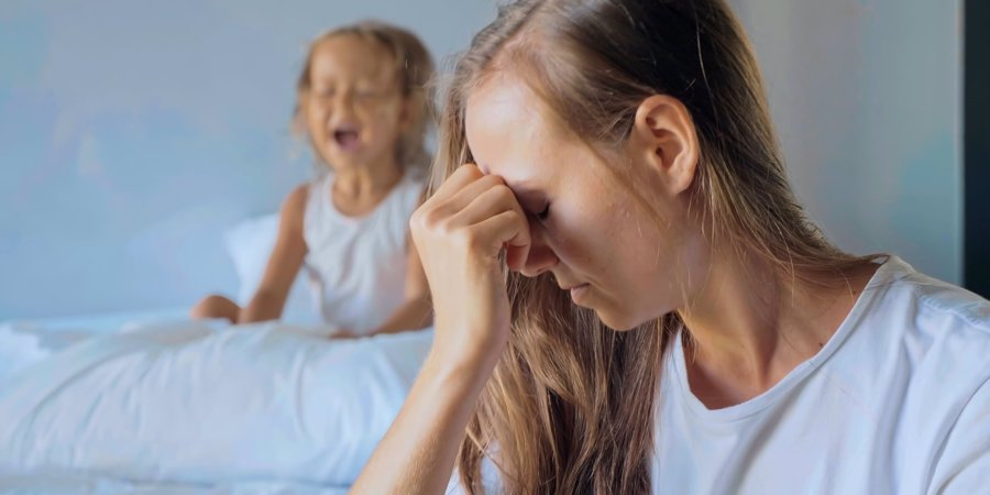 mom stressed from kid screaming